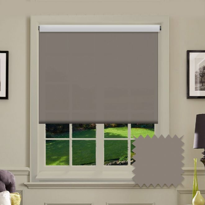 Light Brown Roller Blind - Astral Portobello Plain - Just Blinds